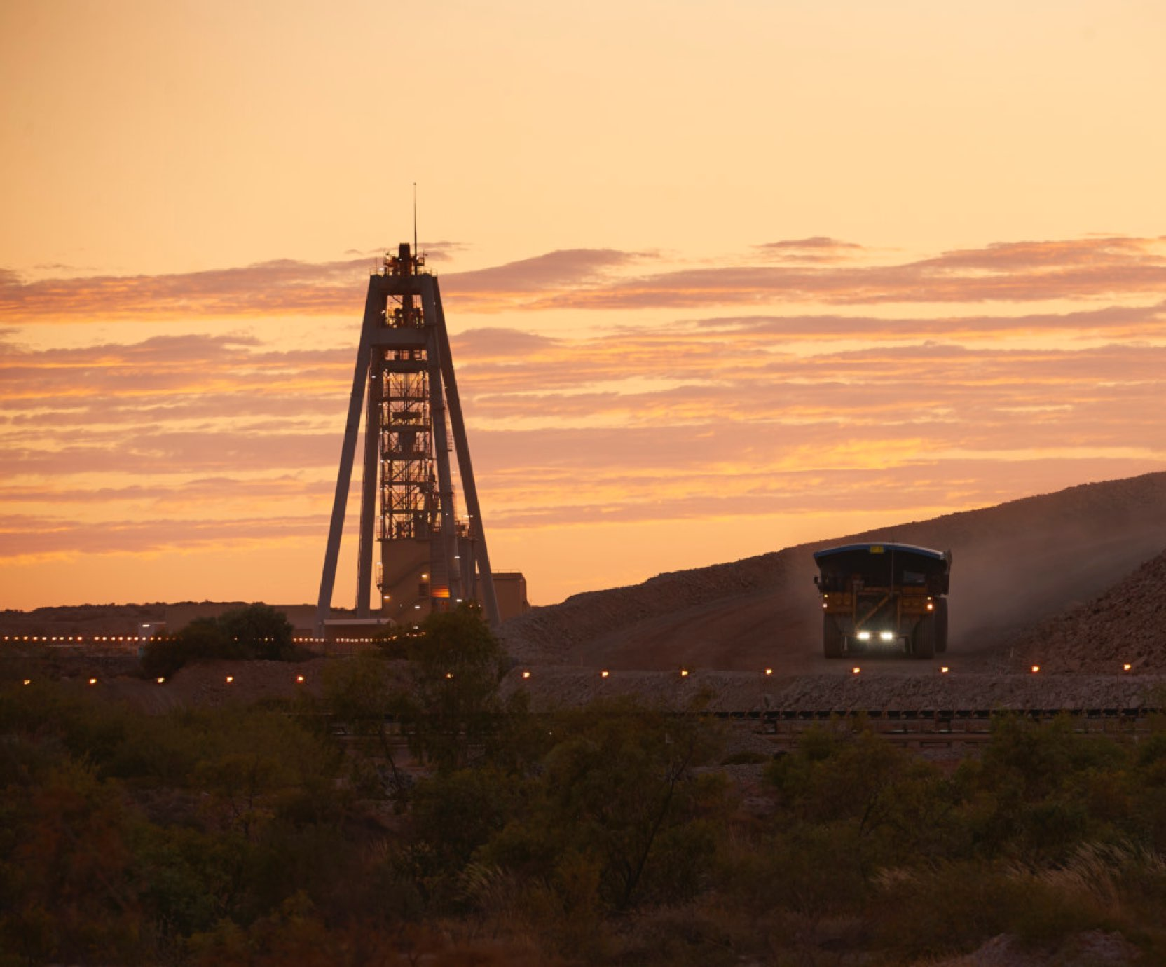 Telfer mines at dawn